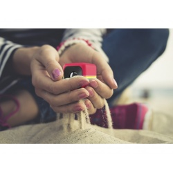 Екшън видеокамера Polaroid Cube HD, Red