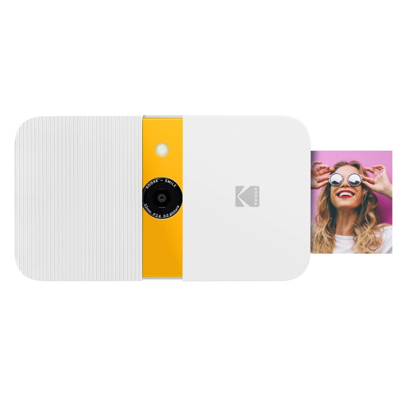 Фотоапарат KODAK SMILE 2x3 Camera бяло/жълт