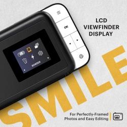 Фотоапарат KODAK SMILE 2x3 Camera черно/бял