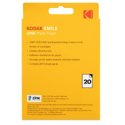 Хартия Kodak ZINK 3x4 inch paper - 20 броя