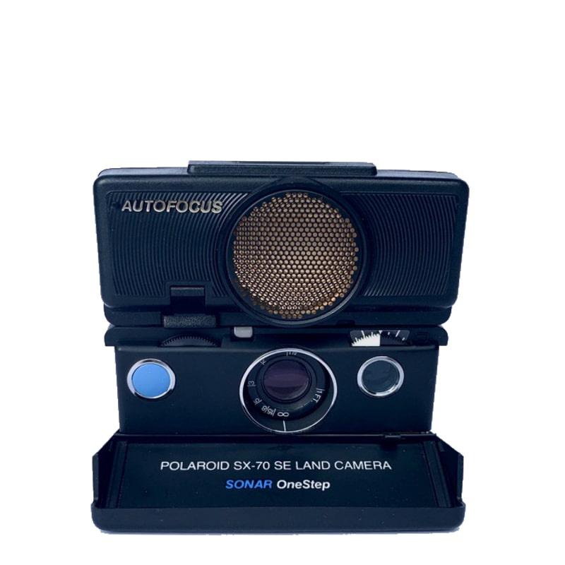 Фотоапарат Polaroid SX-70 Autofocus Black-Black blue button