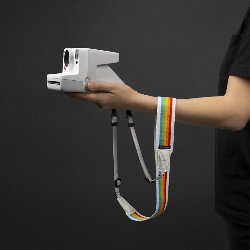Ремък за фотоапарат Polaroid Camera Strap Flat - White rainbow