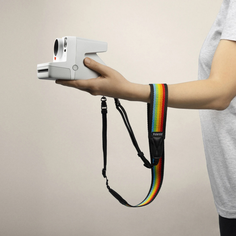 Ремък за фотоапарат Polaroid Camera Strap Flat - Black rainbow