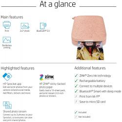 "Фото принтер HP Sprocket 2x3"" Pink"