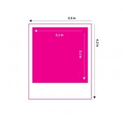 """Албум Polaroid за 64 снимки 3x4"""", Розов"""